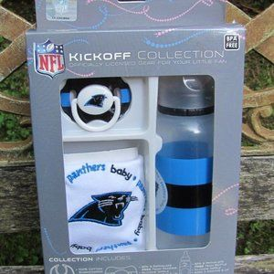 NFL Kickoff Panthers Baby Bib-Pacifier-Bottle